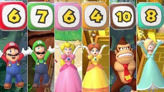 Super Mario Party - All Character Dice Blocks