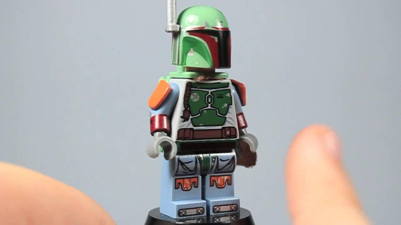 Custom Lego Star Wars Upgraded Boba Fett Minifigure Youtube
