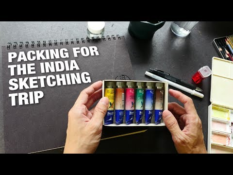 Packing for the India Sketching Trip (2017)