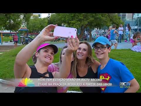 Quarta-feira dia de Estação Verão da RICTV Record Itajaí