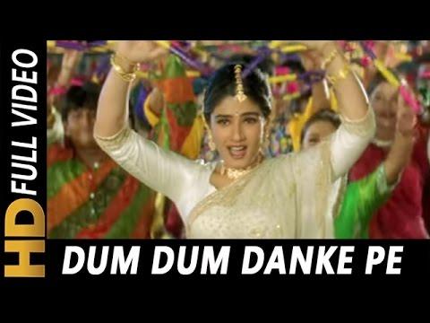 Dum Dum Danke Pe Chot Padi | Alka Yagnik, Udit Narayan | Ghulam-E-Mustafa 1997 Dandiya Songs
