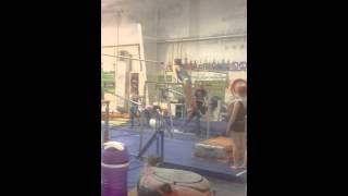 Gymnastics in a cast! Bars