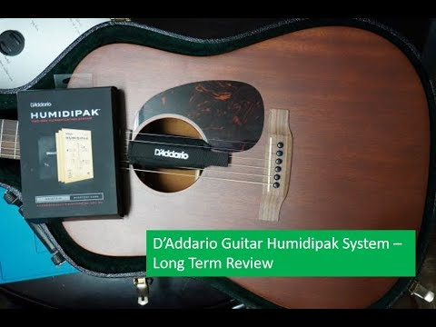 D Addario Humidipak 2 Way Guitar Humidification System Long Term Review Youtube