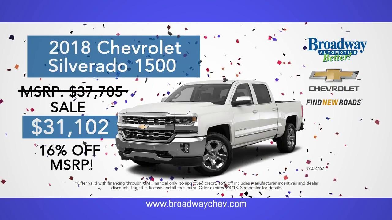Elegant 102nd Birthday Sale @ Broadway Chevrolet Green Bay, WI