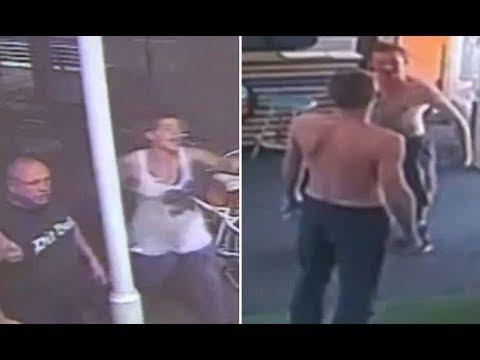Shocking footage shows Adelaide Hutt Street 'w ar zone'