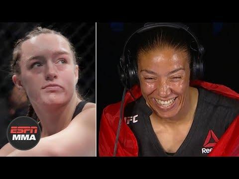 Aspen Ladd was rocked bad - Germaine de Randamie feels fight was over | UFC Fight Night | ESPN MMA