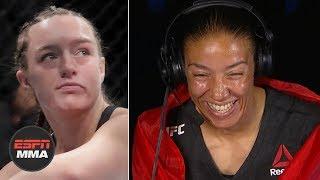Aspen Ladd was rocked bad - Germaine de Randamie feels fight was over   UFC Fight Night   ESPN MMA