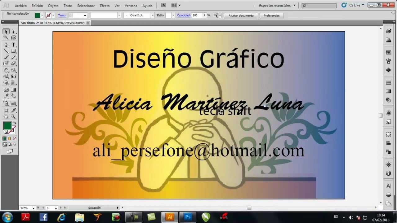 6e28a4009936b TUTO ILUSTRATOR CS5 COMO HACER UNA TARJETA DE PRESENTACION.wmv - YouTube