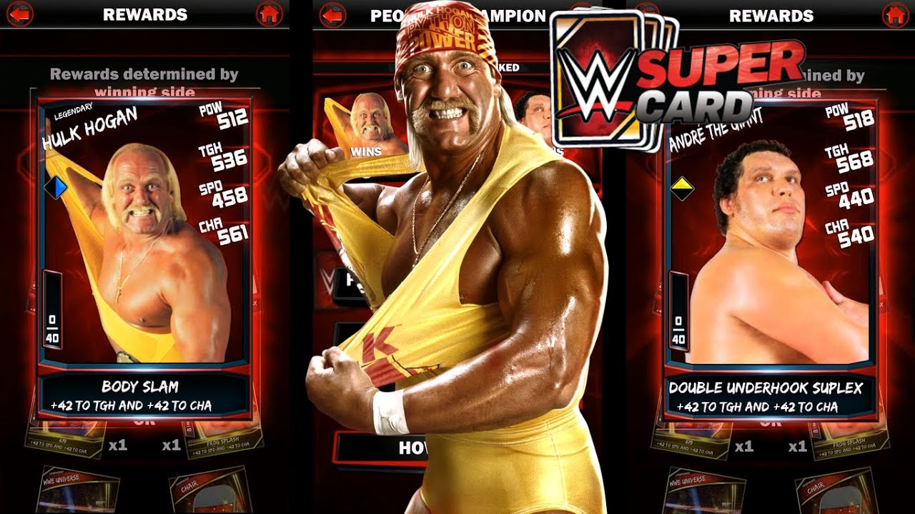 WWE SuperCard Gameplay Ep11 Hulk Hogan vs Andre The Giant PCC – Hulk Hogan Birthday Card