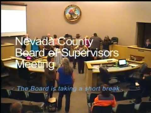 Nevada County BOS Meeting May 1, 2018