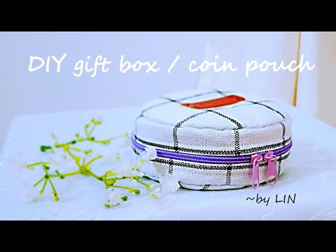 DIY Lovely gift box / coin pouch ‖ Mr DIDI in the sewing room #HandyMum
