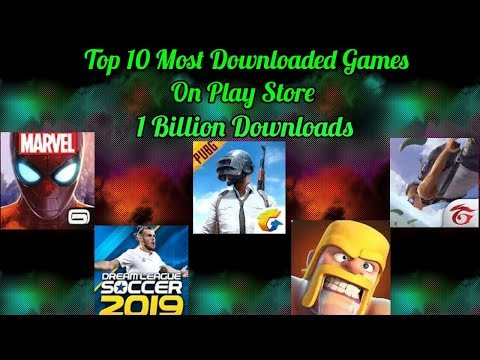 Top 10 Most Downloaded Games On Play Store | Pubg Mobile | Coc | Free Fire