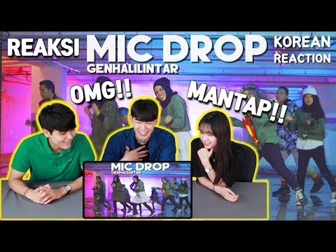 [MANTAP!!] REAKSI ORANG KOREA 'BTS(방탄소년단) - MIC Drop - Gen Halilintar' | Reaction | Indonesia