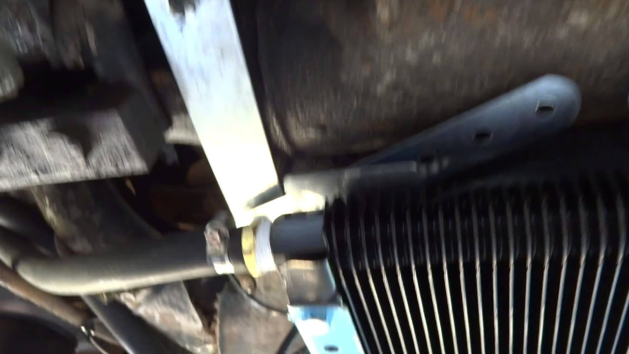 Vw Oil Cooler With Fan : Vw bus oil cooler youtube