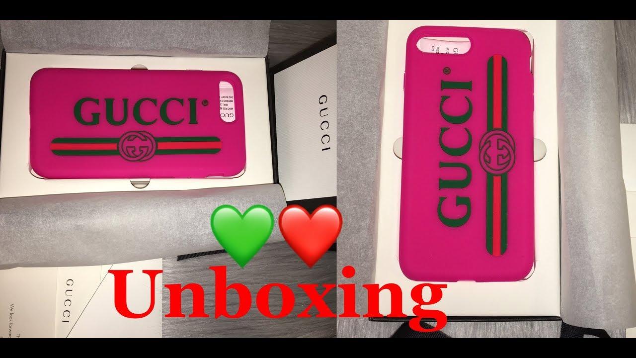 hot sale online 137fe da3df UNBOXING GUCCI LOGO IPHONE CASE || Marta In_Vogue_UK