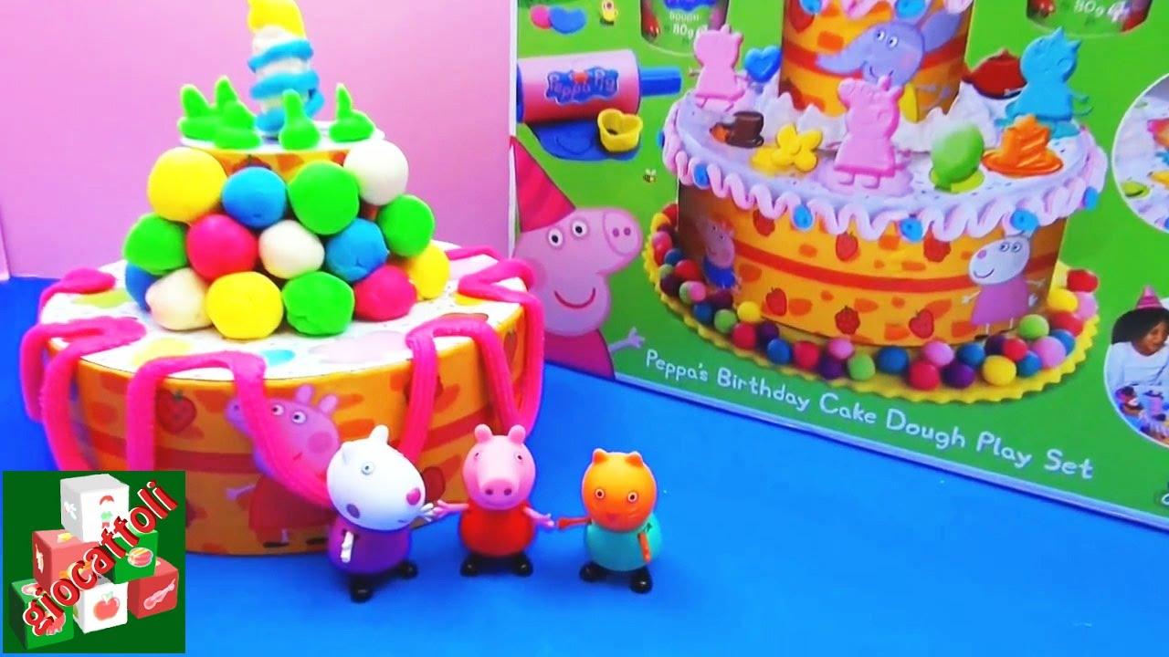 Playdoh Torta Di Peppa Pig Playset Per Torta Di Compleanno Di Peppa