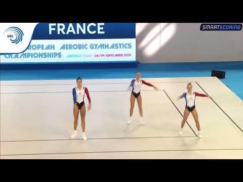 TRIO (FRA) Aerobic Gymnastic European Championship 2017