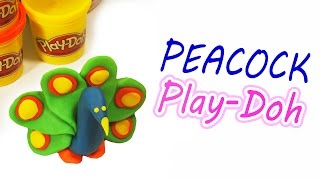 how to make your own peacock play doh modeling fun clay for kids