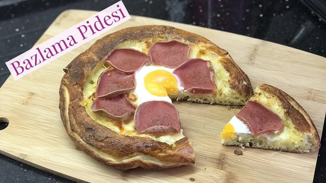 Bazlama Pidesi Bazlama Pizza   Naciye Kesici   Kahvaltılık Tarifler