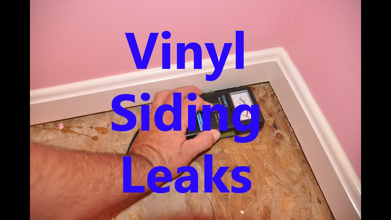 Vinyl siding leaking - YouTube