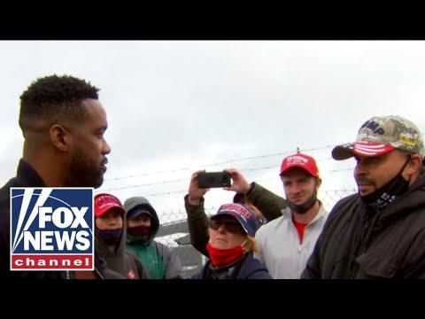 Lawrence Jones asks Trump supporters about Biden's fracking flip-flop