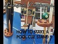 How to Make a Pool Cue Stand Out of an Old Pool Cue and Pool Ball