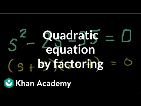 solving a quadratic equation by factoring algebra ii khan academy