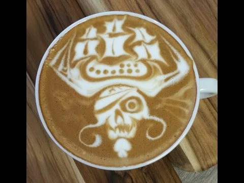 "Latte Art ""Pirate Of The Caribbean - 2"" by Elvis - Seivijus Matiejunas"