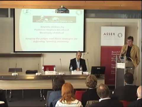 Lecture by Prof. Weatherill (Oxford university) - Three Strategies for defending 'Sporting Autonomy'