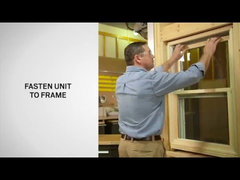 Combination Unit Installation on Andersen® Double-Hung Windows
