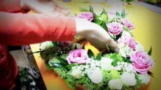 Как сделать композицию из живых цветов