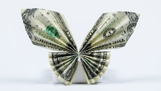 Money Gift Idea: Butterfly, dollar bill origami tutorial, easy!