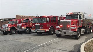 Tankers Responding To A 3rd Alarm Building Fire - Lower Providence