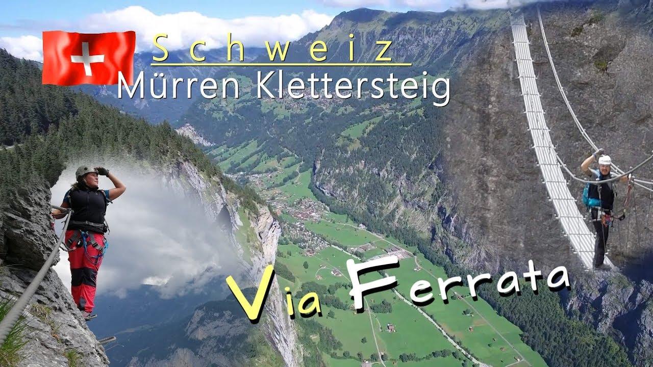 Klettersteig Lauterbrunnen : Mürren klettersteig mürrenfluh youtube