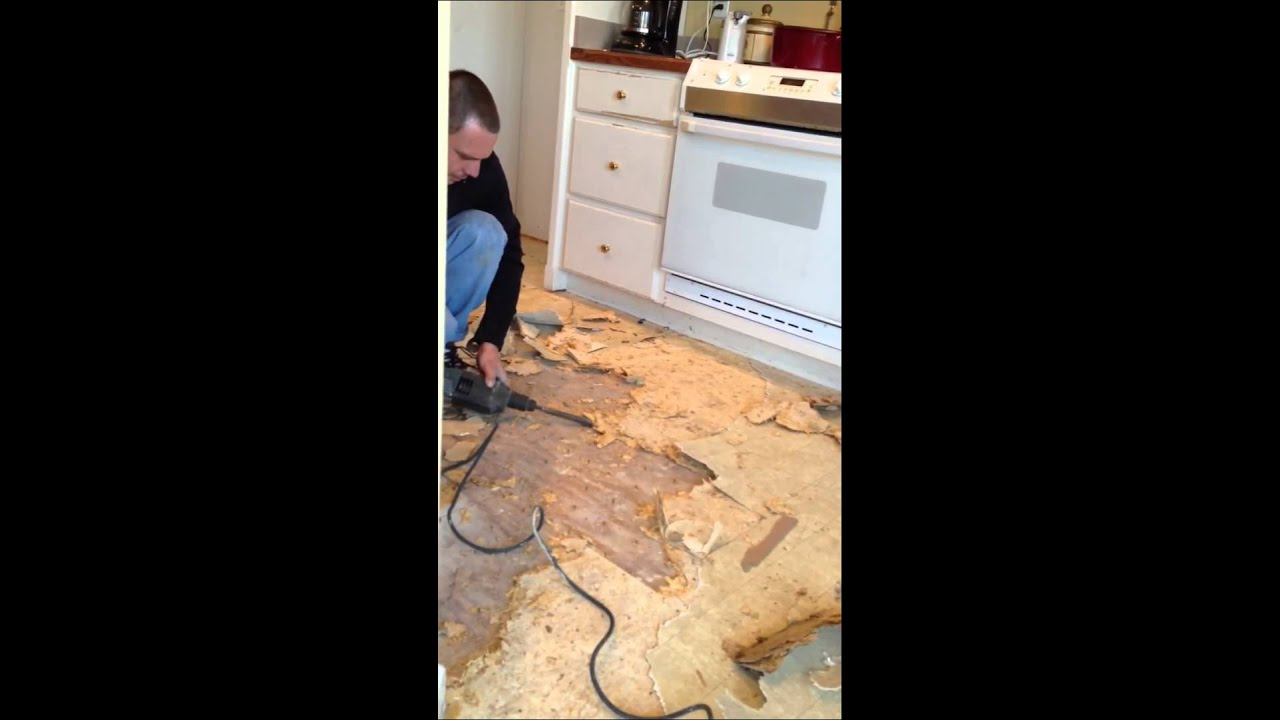 How Do You Remove Particleboard Subfloor Youtube