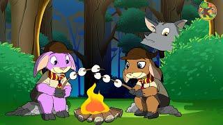 Волк и семеро козлят в лагере скаутов KONDOSAN На русском смотреть сказки для детей 2019