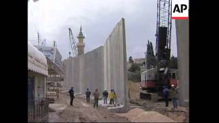 Construction starts on security wall to surround Jerusalem