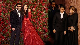 Shah Rukh Khan's Royal ENTRY At Ranveer Singh Deepika Padukone's Mumbai WEDDING Reception