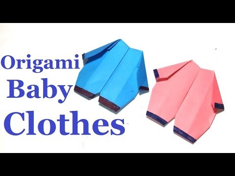 Origami Baby Clotheshow To Make An Origami Baby Clothes Easy Step