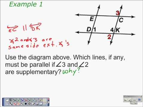 Converse Of Same Side Interior Angles Theorem Algebra And