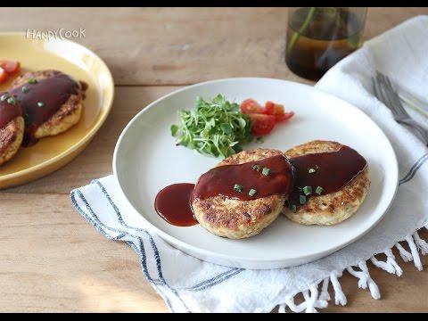 두부참치스테이크( Tofu and tuna steak / ツナ入りの豆腐ハンバーグ)