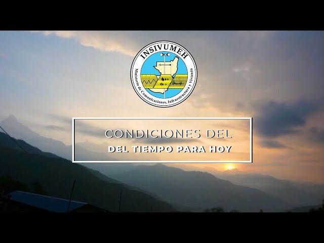 CONDICIONES DEL TIEMPO PARA HOY JUEVES 06 DE AGOSTO 2020
