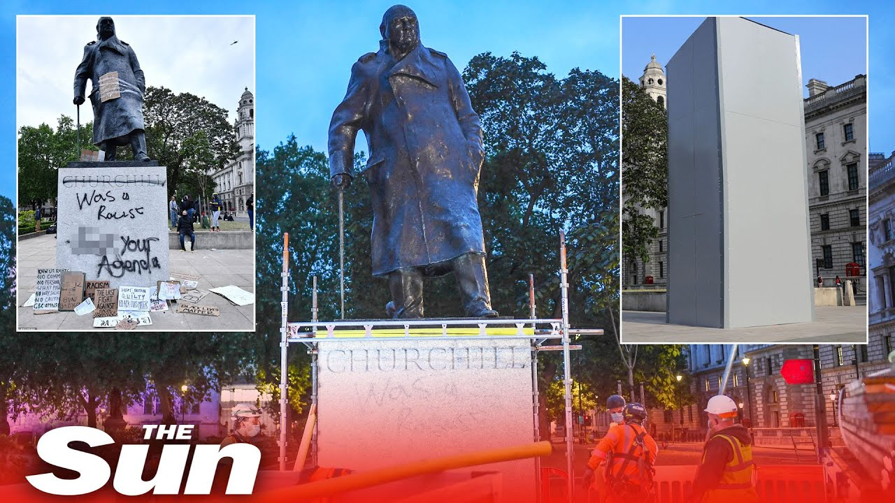 Winston Churchill statues could become target in London protests ...
