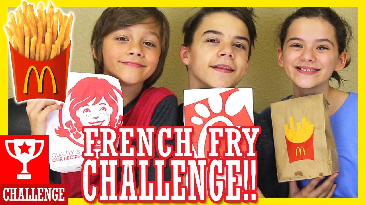 How To Eat Fried Worms Cast The French Fry Challenge!! Kittiesmama