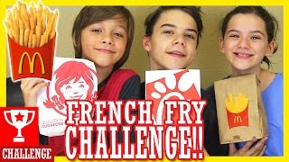 THE FRENCH FRY CHALLENGE!!  |  KITTIESMAMA
