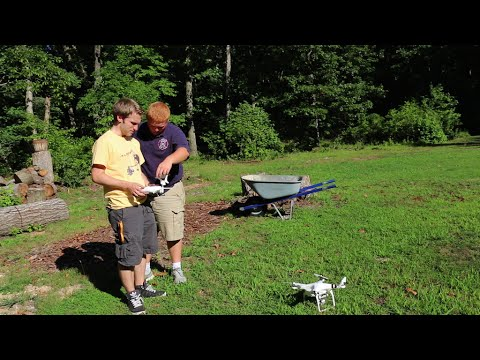 CRASHING A FAN'S DRONE!