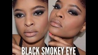 Dramatic Black Smokey Eye + Nude Lips