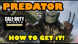 Call Of Duty Ghosts:  Easiest way to get The Predator!
