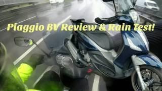piaggio bv350 review rain test