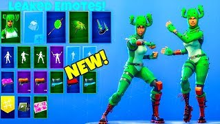 LEAKED! EMOTES with *NEW* CACTUS SKIN..! Fortnite Battle Royale